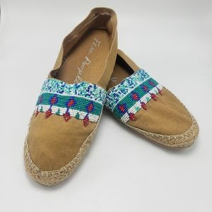 FREE PEOPLE Espadrilles with Beaded Detailing